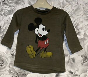 Boys Age 6-9 Months - Mickey Mouse Long Sleeved Top