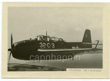 Vtg WWII Military Aircraft Identification? Photo Grumman TBF-1 Avenger Aircraft