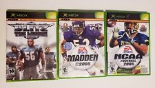 MICROSOFT XBOX - Lot of 4 Sport Madden & NCAA 2005 & Blitz the League Top Spin