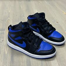 "NIKE Air Jordan 1 Mid (PS) ""Royal"" Hyper Royal Sneakers 640734-068 Size 2Y"