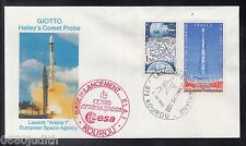 "A 41 ) France rare Cover Space Launch ""Ariane1"" European Space Agency"