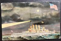 1909 Pola Austria Picture Postcard Cover To Troppau American Battleship