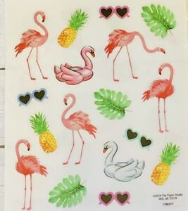 Tropical Flamingo Summer Stickers Papercraft Planner Party Supply Craft