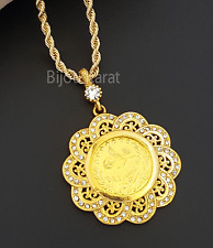 doré Tugra Collier COLLIER EN OR 22 carat doré collier Ottoman bijoux tressés