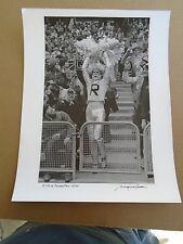 Vintage A true Raider Fan photo NFL stills print Baron Wolman signed 11091