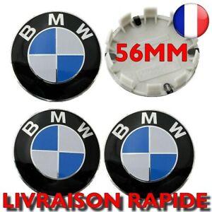 4X Centre Roue 56mm Jantes Logo BMW Voiture Cache Moyeu Insigne Clipser NEUF
