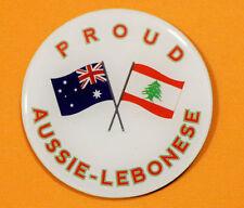 *DISCOUNTED* PROUD AUSSIE - LEBANESE FRIDGE MAGNET AUSTRALIAN GIFT LEBANON