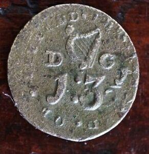 Georgian coin weight Irish D G 1:3 1/2