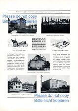Architekt Kiderlen Ravensburg XL Reklame 1925 Escher Wyss Weissenau Weingarten