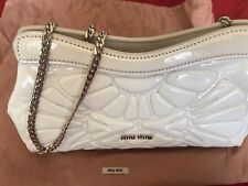 Authentic Miu Miu Laquered Leather Clutch With Strap