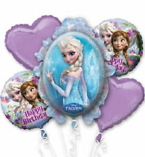 Frozen Birthday Balloon Bouquet 5pc~ Elsa & Ana party supply favors Decorations