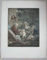 Antique Old French Print  after Philibert Louis Debucourt