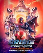 Crisis On Infinite Earths Poster Crossover DC Comics CW TV Special Art Print