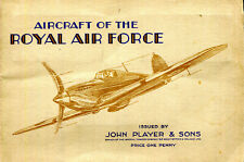 John Player Cigarette card album AIRCRAFT OF THE ROYAL AIR FORCE