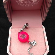 NIB Juicy Couture New Genuine Boxed Silver & Pink Enamel Balloon Charm
