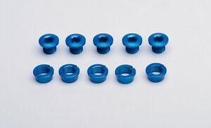 Vuelta Alloy Chainring Bolt Set 6mm Single Blue