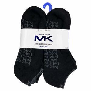 NWT 6-PAIRS PACK MICHAEL KORS MEN'S WHITE CUSHION LOW CUT SOCKS SIZES 7 - 12