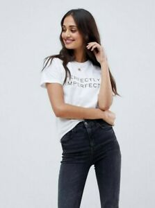 Asos Design T-Shirt Perfectly Imperfect Like New Size AU4