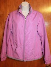 ATHLETCH Ladies' Small Zip-Up WINDBREAKER JACKET (purple w/ mesh lining)
