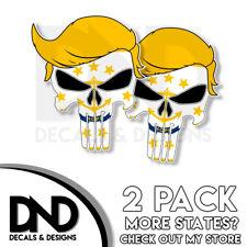 Trump Skull - Rhode Island Decal Republican Right Wing Sticker 2 Pack RI