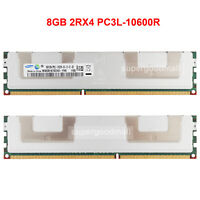 For Samsung 8GB 2Rx4 PC3L-10600R DDR3 1333MHz 1.35V ECC REG Server Memory RAM
