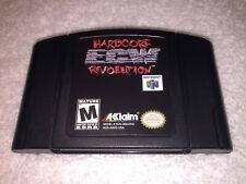 ECW Hardcore Revolution (Nintendo 64) N64 Authentic OEM Black Video Game LN Mint