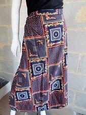 Jupe porte feuille Vintage bohème années 70 Taille M à L