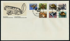 Canada 1155-61 on Fdc - Mammals, Red Fox, Beaver, Skunk, Muskrat, Hare, Squirrel
