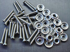 "25 pcs #8 x 1"" with #6 slotted oval stainless trim screws & flange washers Ford"
