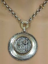 Chico's Large Coin Pendant NWT