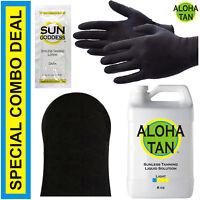 Best Spray Tan Solution - LIGHT - 8 oz + Sunless Tanning Self Tanner Lotion Mitt