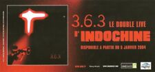 INDOCHINE PROMO FLYER BELGIQUE  3.6.3 LE DOUBLE LIVE D'INDOCHINE 05 JANVIER 2004