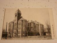 DECATUR ILLINOIS  HIGH SCHOOL  REAL PHOTO POSTCARD  POSTMARKED 1909