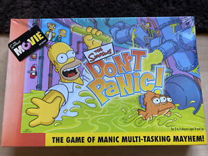 MIB 2007 THE SIMPSONS DON'T PANIC BOARD GAME