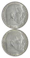 1939 1939 GERMAN WW2 NAZI 2 Mark Swastika Silver Coin - Germany War *450