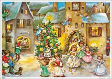 "Nostalgischer Adventskalender ""Sternenstab"" Christkind A4 Glimmer Lore Hummel"