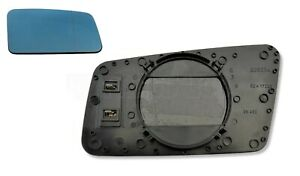 Audi 100 200 V8 Right Side (Driver) Heated Door Mirror Glass Blue (1983-1994)