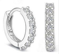 *UK Ladies fashion Rhinestone crystal hoop earrings crystal bridal prom studs
