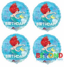 "Disney Little Mermaid Ariel Happy Birthday Mylar Foil Balloon 18"""