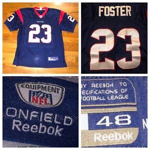 Reebok On Field Houston Texans Arian Foster #23 NFL Sewn Jersey Size 48