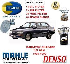 para Daihatsu Charade 1.5 1994-1999 FILTRO DE ACEITE AIRE COMBUSTIBLE + Bujías