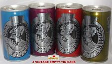 SIR REGGIE MISS OLD FROTHINGSLOSH 4 BEER CANS GIRL PITTSBURGH PALE STALE ALE SET