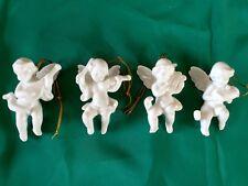 Vintage Christmas Cherub Ornaments By Gorham Angels