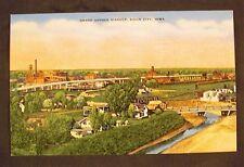 Grand Avenue Viaduct, Sioux City, Iowa - Linen Postcard