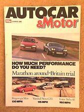 AUTOCAR MAGAZINE 02-AUG-89 - Peugeot 405 Mi16, Vauxhall Nova GTE, Renault 19 TXE