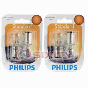 2 pc Philips Front Side Marker Light Bulbs for Mitsubishi 3000GT 1994-1998 xa