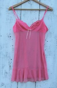 VICTORIA'S SECRET Women's Size Large Pink Sleeveless Tank Top Babydoll Chemise