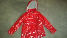 SUPER manteau imperméable rouge brillant printemps été fille JACADI 10 ans TBE