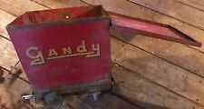 Vintage Red Heavy Metal Gandy Seed Applicator Farm Machinery Part