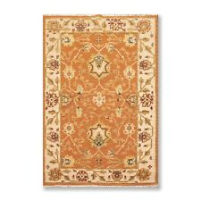 "3'10"" x 5'10"" Nourison Nourmak Hand Knotted Wool High Low Pile Area Rug Orange"